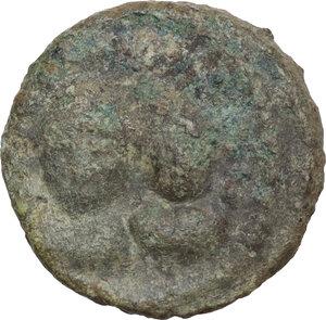 obverse: Heraclius, with Heraclius Constantine (610-641).. AE Half Follis. Rome mint