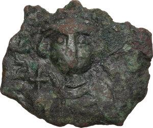 obverse: Constans II (641-668).. AE Follis, 642-643, Syracuse mint