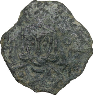 obverse: Leo V the Armenian, with Constantine (813-820). AE Follis. Syracuse mint, c. 814-815