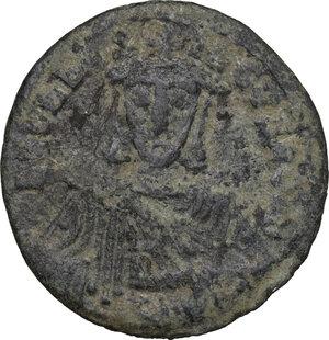 obverse: Leo VI the Wise (886-912).. AE Follis. Constantinople mint