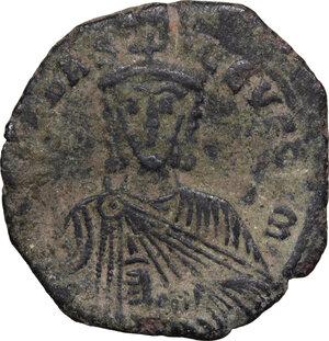 obverse: Leo VI the Wise (886-912).. AE Follis, Constantinople mint, 886-912