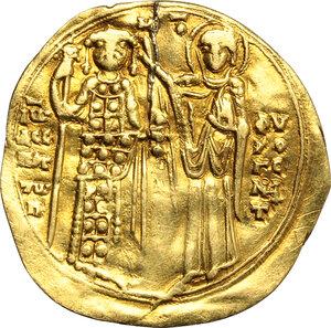 reverse: John III Ducas (1222-1254).. AV Hyperperon, Empire of Nicaea, Magnesia mint, 1232-1254