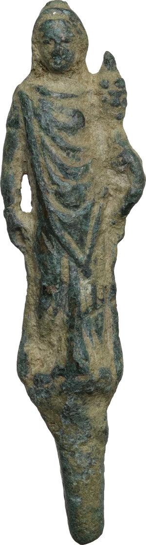 obverse: Bronze figure of Ceres.  Roman period, 1st-3rd century AD.  H: 53 mm