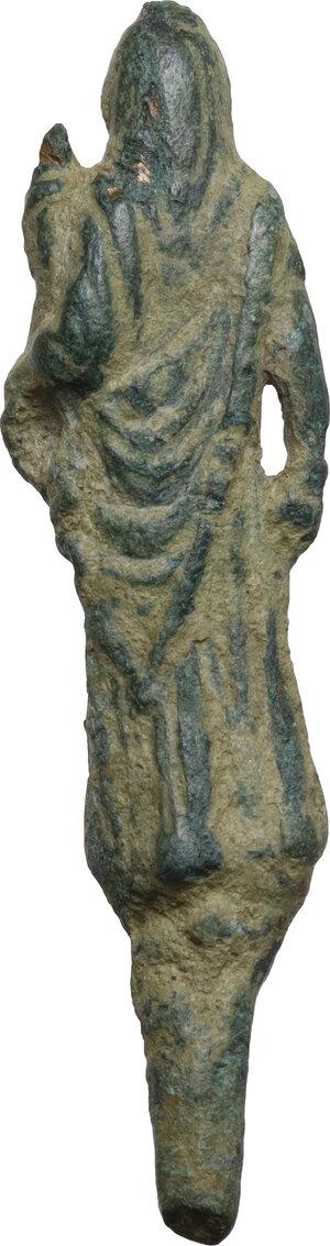 reverse: Bronze figure of Ceres.  Roman period, 1st-3rd century AD.  H: 53 mm
