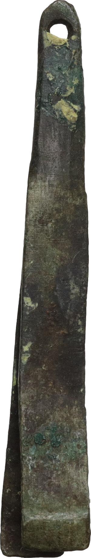 reverse: Bronze tweezers  Roman period, 1st - 3rd century AD.  51 mm