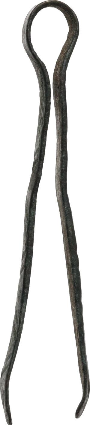 reverse: Bronze tweezers  Roman period, 1st - 3rd century AD.  42 mm