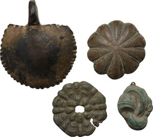 obverse: Nice lot of four (4) Bronze items, various periods