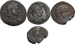 obverse: The Roman Empire.. Lot of 4 AE denominations, including: Constantine I, Constantine II and Constantius II