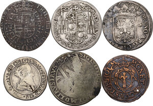 obverse: Multiple lot ofsix (6) AR/AE coins. Medieval Europe