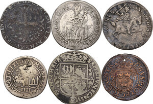 reverse: Multiple lot ofsix (6) AR/AE coins. Medieval Europe