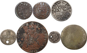 reverse: Multiple lot seven (7) AR/AE coins. Europe, 18th century
