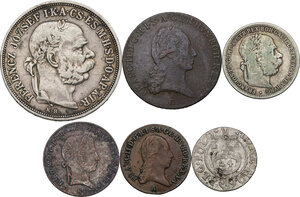 obverse: Multiple lot of six (6) unclassified AR and AE coins