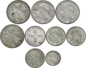 obverse: Multiple lot of nine (9) unclassified coins