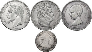 obverse: Multiple lot of four (4) unclassified coins