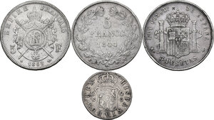 reverse: Multiple lot of four (4) unclassified coins