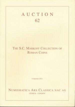 obverse: NAC Numismatica Ars Classica AG. Auction 62. The S.C. Markoff Collection of Roman Coins, 6 october 2011, Zürich-London, 4°, 81 p., 133 lots illustrés en coul. 500 g. IMPORTANTE COLLEZIONE.