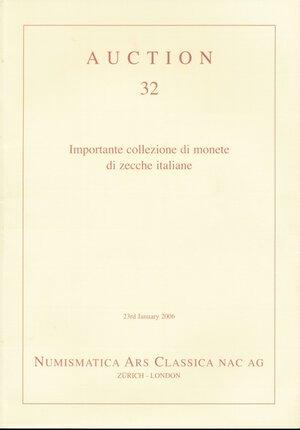 obverse: NAC Numismatica Ars Classica n. 32. Importante collezione di monete di zecche italiane. Nuovo.