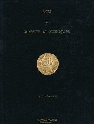 obverse:  Negrini - Asta n. 1 1994.  Monete & medaglie di zecche italiane e Casa Savoia. 721 lotti. Con aggiudicazioni. Ottimo come nuovo.