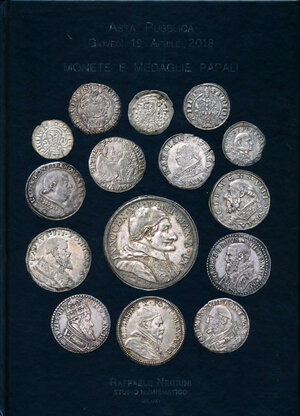 obverse: Negrini - Asta n. 44 2018 - Monete e medaglie papali. Copertina rigida cartonata.