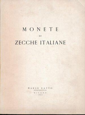 obverse: Ratto Mario - Asta del 1-2-3 aprile 1965. Monete di zecche italiane. 56 pagine, 855 lotti, 34 tavole. Si tratta della collezione