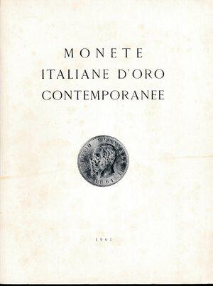 obverse: Ratto Mario - Asta del 21 ottobre 1961 monete italiane d oro contemporanee. Con valutazioni.