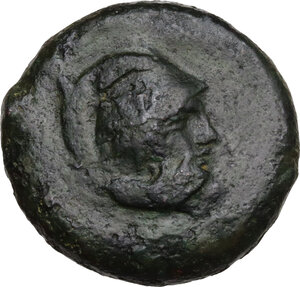 obverse: Mytistraton. AE Hemilitron, c. 344-336 BC