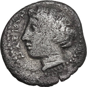 obverse: Naxos. AR Litra, c. 415-403 BC