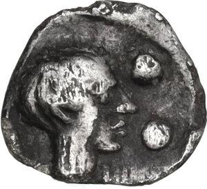 reverse: Segesta. AR Hexas or Dionkion, 5th century