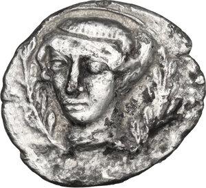 obverse: Segesta. AR Litra, c. 410-400 BC: