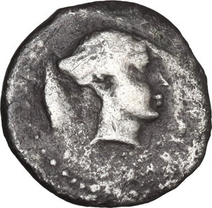 obverse: Segesta. AR Hemilitra or Hexonkion, c. 412/410-405/400 BC