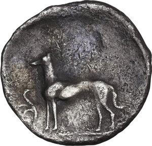 reverse: Segesta. AR Hemilitra or Hexonkion, c. 412/410-405/400 BC