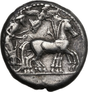 obverse: Syracuse. Deinomenid Tyranny (485-466 BC). AR Tetradrachm, c. 485-479 BC