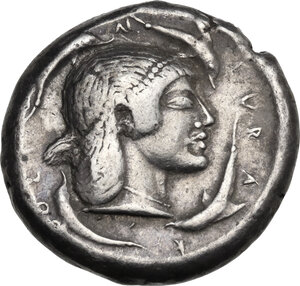 reverse: Syracuse. Deinomenid Tyranny (485-466 BC). AR Tetradrachm, c. 485-479 BC