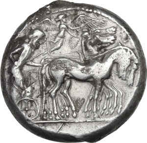 obverse: Syracuse. Gelon I (485-478 BC). AR Tetradrachm, c. 480-478 BC