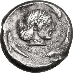 reverse: Syracuse. Gelon I (485-478 BC). AR Tetradrachm, c. 480-478 BC