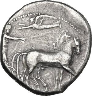 obverse: Syracuse. Second Democracy, 466-405 BC. AR Tetradrachm, c. 420 BC