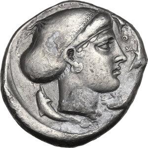 reverse: Syracuse. Second Democracy, 466-405 BC. AR Tetradrachm, c. 420 BC