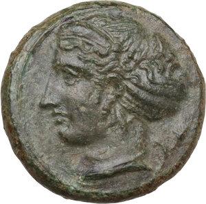 obverse: Syracuse. Second Democracy (466-405 BC). AE Hemilitron, c. 415-405 BC