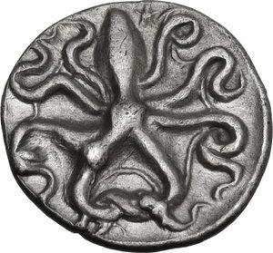 reverse: Syracuse. Dionysos I (405-367 BC). AR Litra, c. 405-395 BC