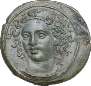 obverse: Syracuse. Dionysios I (405-367 BC). AE Tetras, c. 405 BC