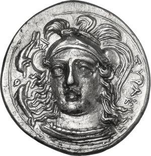 obverse: Syracuse. Timoleon and the Third Democracy (344-317 BC). AR Hemidrachm, c. 343-317 BC