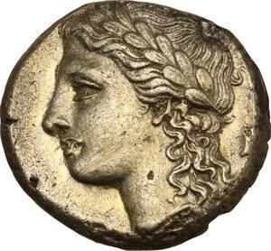 obverse: Syracuse. Agathokles (317-289 BC). EL 50 Litrai, c. 310-305/300 BC