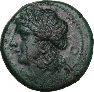 obverse: Samnium, Southern Latium and Northern Campania, Teanum Sidicinum. AE 20.5 mm. c. 265-240 BC