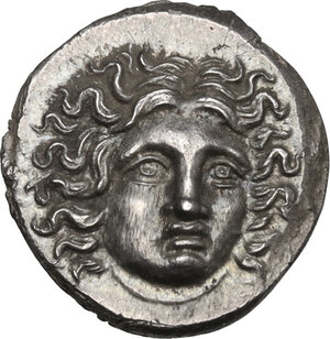 obverse: Kings of Macedon. Perseus (179-168 BC). AR Drachm, Third Macedonian War issue. Uncertain mint in Thessaly, Hermias, magistrate