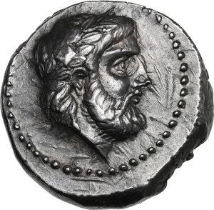 obverse: Kings of Paeonia. Lykkeios (356-335 BC). AR Tetradrachm, struck c. 356-335 BC. Astibos or Damastion mint