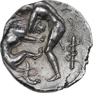 reverse: Kings of Paeonia. Lykkeios (356-335 BC). AR Tetradrachm, struck c. 356-335 BC. Astibos or Damastion mint