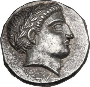 obverse: Kings of Paeonia. Patraos (335-315 BC). AR Tetradrachm, c. 335-315 BC. Astibos or Damastion mint