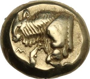 obverse: Lesbos, Mytilene. EL Hekte-Sixth Stater, c. 521 - 478 BC