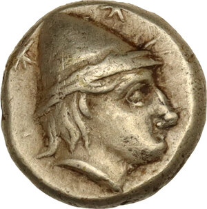 obverse: Lesbos, Mytilene. EL Hekte-Sixth Stater, c. 377-326 BC