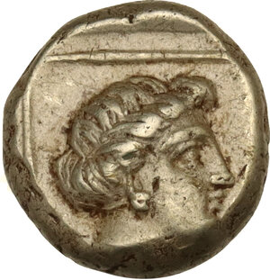 reverse: Lesbos, Mytilene. EL Hekte-Sixth Stater, c. 377-326 BC